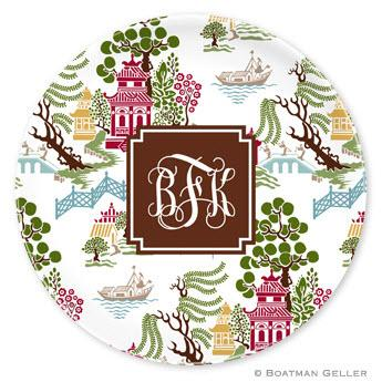Boatman Geller Personalized Chinoiserie  Plate    Home & Garden > Kitchen & Dining > Tableware > Dinnerware > Plates