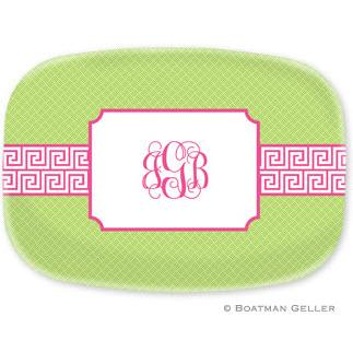 Boatman Geller Personalized Greek Key Platter  Home & Garden > Kitchen & Dining > Tableware > Serveware > Serving Platters