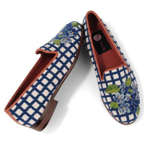 By Paige Hydrangea Ladies Needlepoint Loafers   Apparel & Accessories > Shoes > Loafers