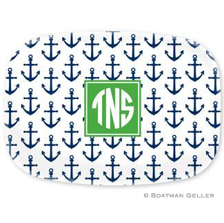Anchors Navy Melamine Platter  Home & Garden > Kitchen & Dining > Tableware > Serveware > Serving Platters