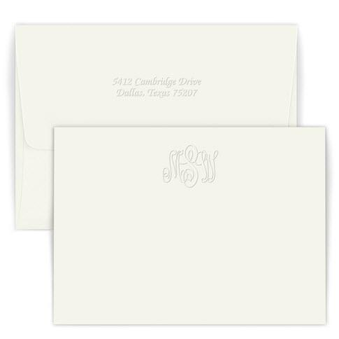 Personalized Embossed Classic Monogram Card  Office Supplies > General Supplies > Paper Products > Stationery
