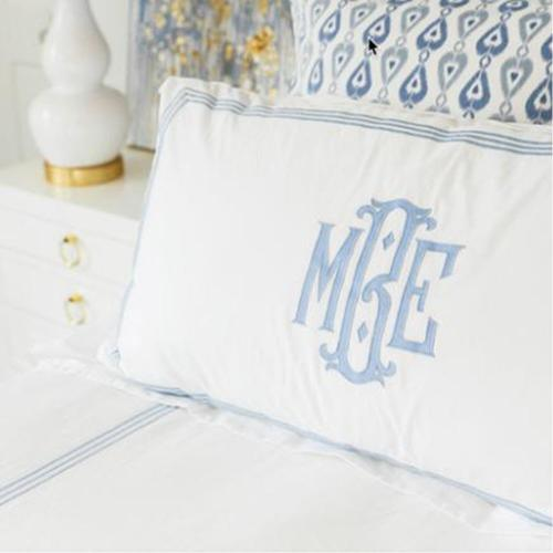 Matouk Bel Tempo Monogrammed Bedding Collection  Matouk Bel Tempo Monogrammed Bedding Collection Home & Garden > Linens & Bedding > Bedding