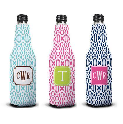 Personalized Cameron Bottle Koozie from Boatman Geller  Home & Garden > Kitchen & Dining > Food & Beverage Carriers > Drink Sleeves > Can & Bottle Sleeves