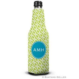 Personalized Chain Link Bottle Koozie from Boatman Geller  Home & Garden > Kitchen & Dining > Food & Beverage Carriers > Drink Sleeves > Can & Bottle Sleeves