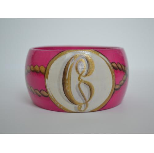 Monogrammed Hand Painted Single Initial Nautical Rope Bangle Bracelet  Apparel & Accessories > Jewelry > Bracelets