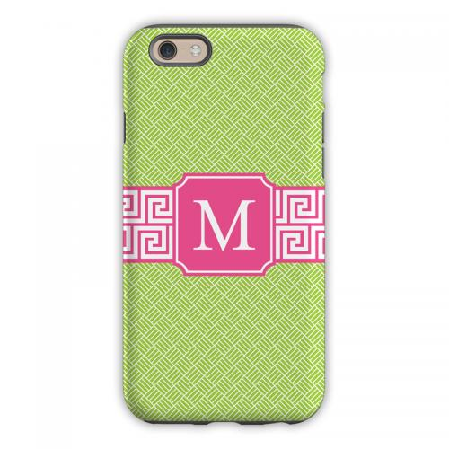 Personalized iPhone Case Greek Key Band Pink   Electronics > Communications > Telephony > Mobile Phone Accessories > Mobile Phone Cases