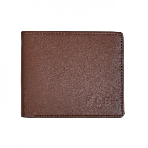 Personalized Men's Premium Leather Fold Wallet  Apparel & Accessories > Clothing Accessories > Wallets & Money Clips