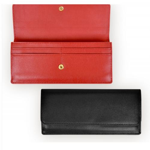 Monogrammed Ladies GPS Safety Leather Wallet Red or Black  Apparel & Accessories > Handbags, Wallets & Cases
