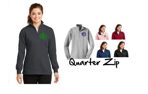 Monogrammed Preppy Quarter Zipped Sweatshirt 10 Colors  Apparel & Accessories > Clothing > Activewear > Sweatshirts