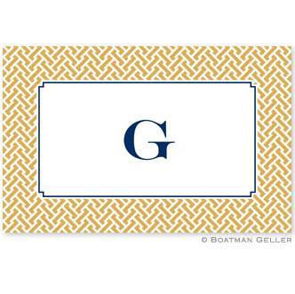 Boatman Geller Personalized Stella Gold Laminated Placemat  Home & Garden > Linens & Bedding > Table Linens > Placemats