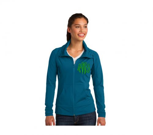 Monogrammed Ladies Yoga Full Zip Jacket   Apparel & Accessories > Clothing > Activewear > Active Jackets