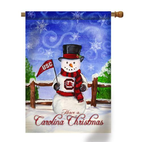 Collegiate Christmas Snowman House Flags  Home & Garden > Decor > Seasonal & Holiday Decorations