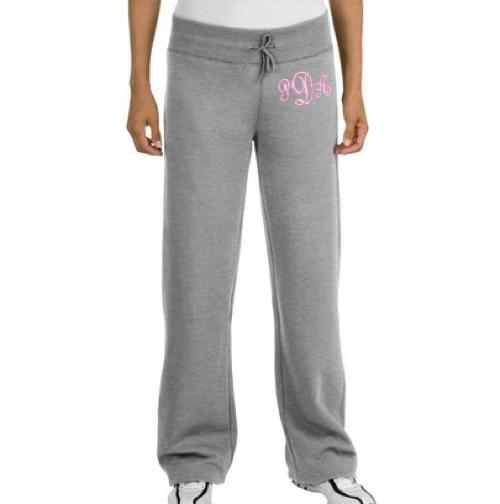 Monogrammed Ladies Sweatpants in All Colors  Apparel & Accessories > Clothing > Activewear > Active Pants