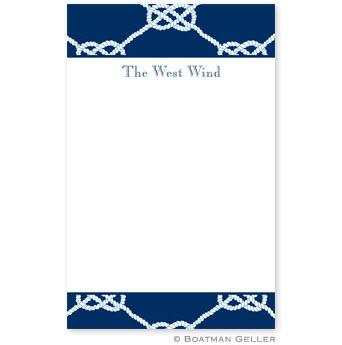 Boatman Geller Personalized Notepad in Nautical Knot Navy Pattern  Office Supplies > General Supplies > Paper Products > Notebooks & Notepads