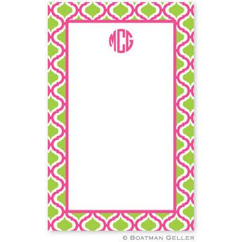 Boatman Geller Personalized Notepad in Kate Raspberry & Lime Pattern  Office Supplies > General Supplies > Paper Products > Notebooks & Notepads