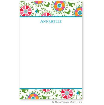 Boatman Geller Personalized Notepad in Suzani Pattern  Office Supplies > General Supplies > Paper Products > Notebooks & Notepads