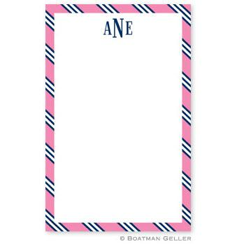Boatman Gellar Monogrammed Pink & Navy Notepad  Office Supplies > General Supplies > Paper Products > Notebooks & Notepads