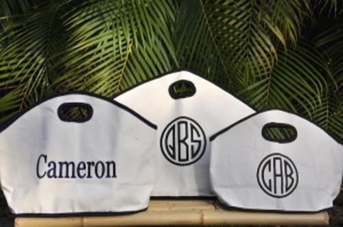 Monogrammed GG Canvas Tote Bag Three Sizes  Apparel & Accessories > Handbags > Tote Handbags