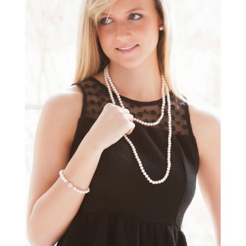 White Cultured Long Strand Flapper Pearls Flapper Pearls Apparel & Accessories > Jewelry > Necklaces