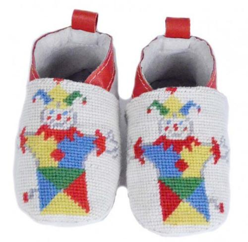 By Paige Jack in the Box Needlepoint Baby Booties   Apparel & Accessories > Shoes > Baby & Toddler Shoes