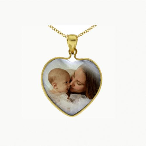 Personalized Necklace Family Photo Heart Pendant  Apparel & Accessories > Jewelry > Necklaces