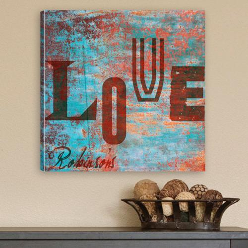 Personalized Canvas Print Graffiti Style Love  Personalized Canvas Print Graffiti Love Style   Home & Garden > Decor > Novelty Signs