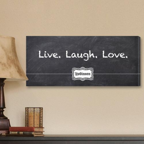 Personalized Canvas Sign Live, Laugh, Love Chalkboard Print Personalized Canvas Sign Chalkboard Print Home & Garden > Decor
