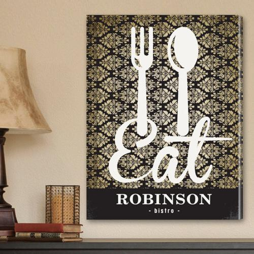 Personalized Bistro Sign Canvas Print Personalized Canvas Print Bistro Sign  Home & Garden > Decor > Novelty Signs