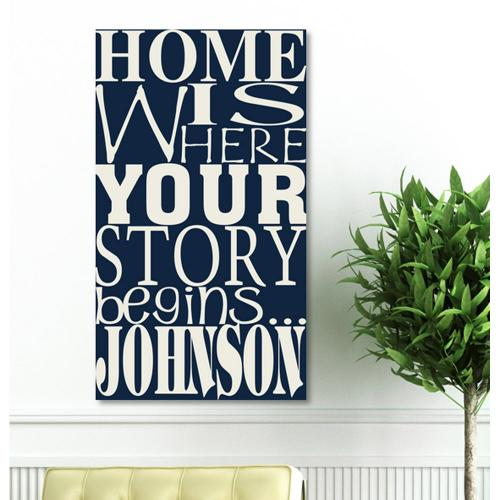 Personalized Canvas Sign Where Our Story Begins Print Personalized Canvas Sign Where Our Story Begins Print Home & Garden > Decor > Novelty Signs