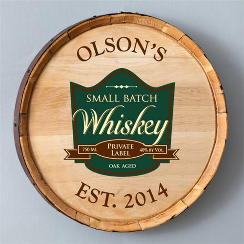 Personalized Whiskey Barrel Sign in Five Designs  Home & Garden > Decor > Novelty Signs