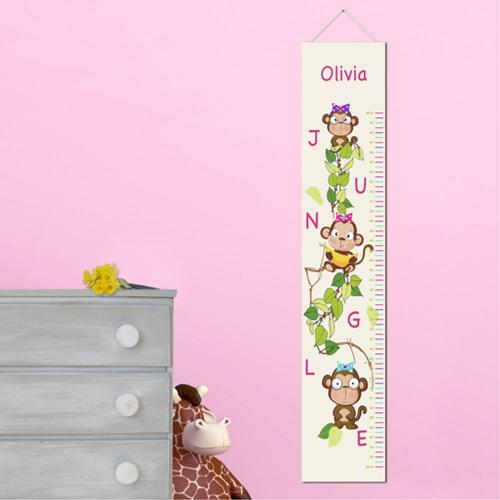 Personalized Growth Chart Pretty Monkeys  Personalized Height Chart Pretty Monkeys  Home & Garden > Decor