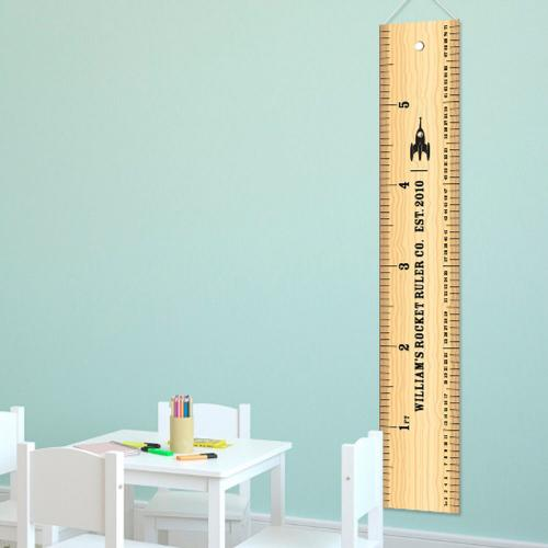Personalized Height Growth Chart Rocket Ruler  Personalized Height Chart Rocket Ruler Home & Garden > Decor