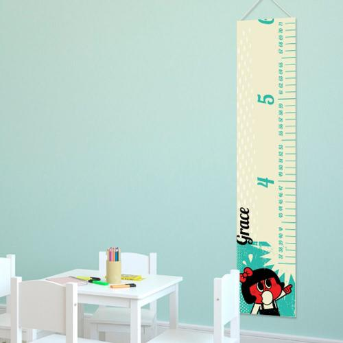 Personalized Height Growth Chart Retro Girl  Personalized Height Growth Chart Retro Girl Home & Garden > Decor