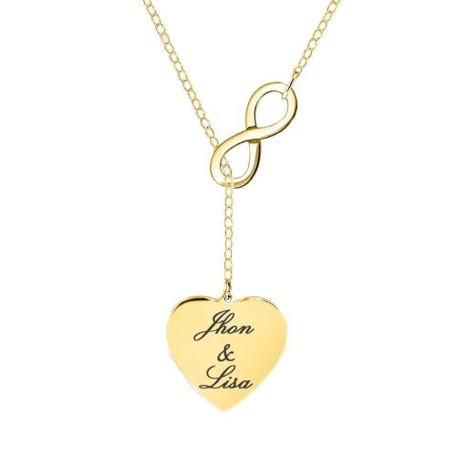 Personalized Infinite Love Necklace with Two Names  Apparel & Accessories > Jewelry > Necklaces