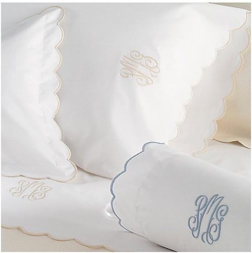 "Matouk Portofino Standard Sham 10"" Monogram   Home & Garden > Linens & Bedding > Bedding > Pillowcases & Shams"