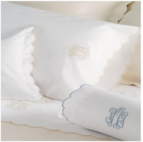 "Matouk Portofino Neck Roll Sham with 3"" Monogram  Home & Garden > Linens & Bedding > Bedding > Pillowcases & Shams"