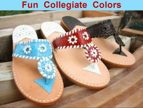 Palm Beach Classic Sandals in Gameday College Colors  Apparel & Accessories > Shoes > Sandals > Thongs & Flip-Flops