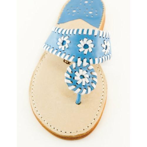 Lupine and White Palm Beach Sandals Lupine and White Apparel & Accessories > Shoes > Sandals > Thongs & Flip-Flops