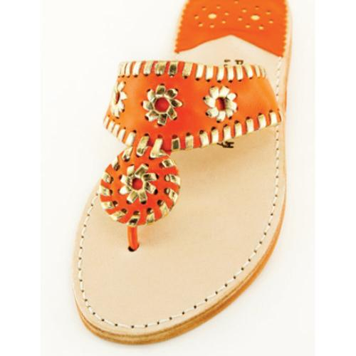 Clementine and Gold Palm Beach Sandals Clementine and Gold Apparel & Accessories > Shoes > Sandals > Thongs & Flip-Flops