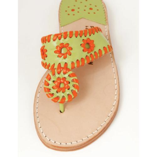 Citrus and Clementine Palm Beach Sandals Citrus and Clementine Apparel & Accessories > Shoes > Sandals > Thongs & Flip-Flops