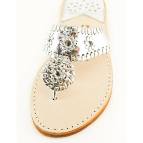 Silver with Silver Palm Beach Sandals Silver with Silver Apparel & Accessories > Shoes > Sandals > Thongs & Flip-Flops