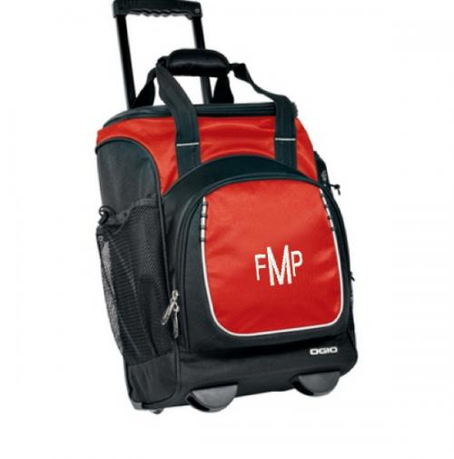 Monogrammed OGIO Red and Black Pulley Cooler  Home & Garden > Kitchen & Dining > Food & Beverage Carriers > Coolers
