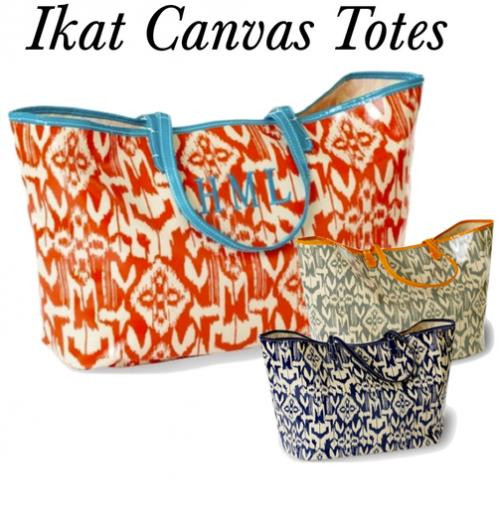 Monogrammed IKat Canvas Tote  Apparel & Accessories > Handbags > Tote Handbags