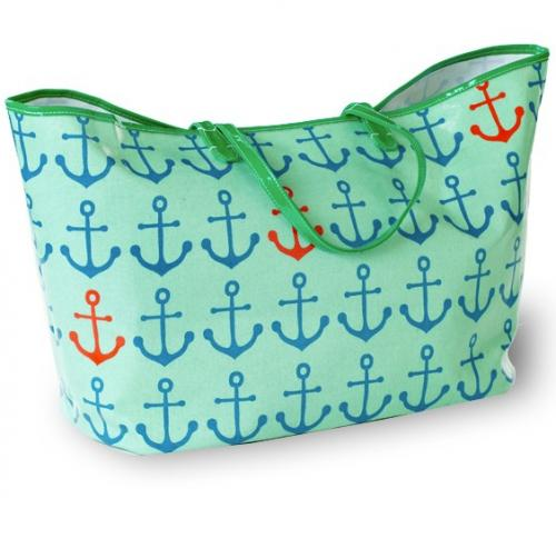 Monogrammed Canvas Anchor Tote   Apparel & Accessories > Handbags > Tote Handbags