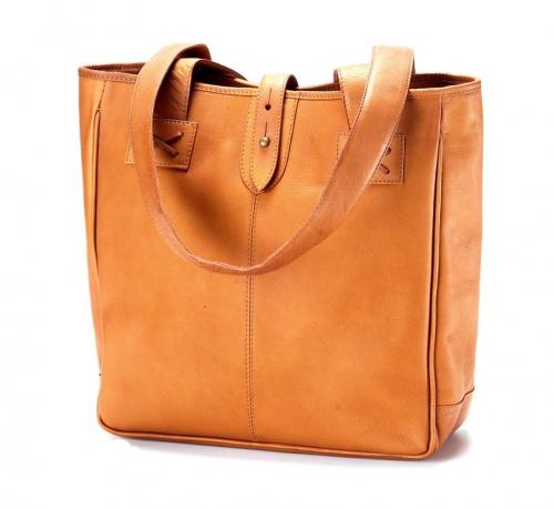 Monogrammed Leather Shopping Totes in Cafe, Black or Tan  Apparel & Accessories > Handbags > Tote Handbags