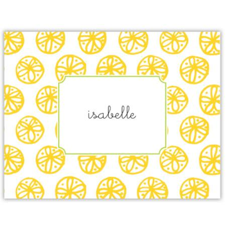 Boatman Geller Personalized Yellow Foldover Note  Office Supplies > General Supplies > Paper Products > Stationery