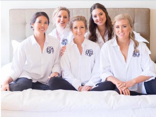 Monogrammed Oversized Button Down Shirt  Perfect Bridesmaid Gift  Apparel & Accessories > Clothing > Wedding & Bridal Party Dresses