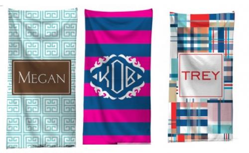 Monogrammed Beach Towels for Graduation!   Home & Garden > Lawn & Garden > Outdoor Living > Outdoor Blankets > Beach Mats