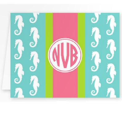 Boatman Geller Personalized Seahorse Foldover Note  Office Supplies > General Supplies > Paper Products > Stationery