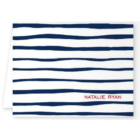 Boatman Geller Personalized Brush Stripe Note  Office Supplies > General Supplies > Paper Products > Stationery